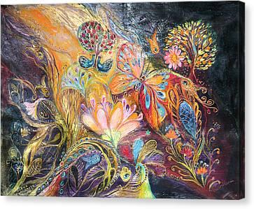 The Shining Of The Orange Tree Canvas Print by Elena Kotliarker