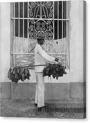 The Shoe Vendor, Photograph Circa Canvas Print by Everett