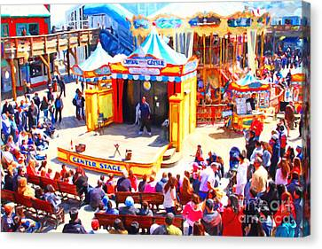 The Showman . Pier 39 . San Francisco California . 7d14337 Canvas Print by Wingsdomain Art and Photography