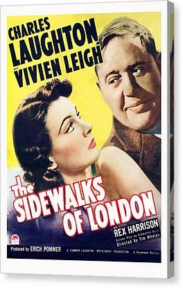 The Sidewalks Of London, Vivien Leigh Canvas Print by Everett