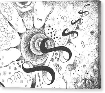 The Silent Dance Of The Particles Canvas Print by Helena Tiainen