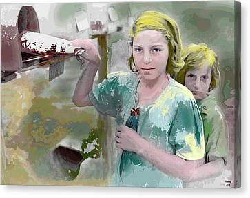 The Sisters Canvas Print by Charles Shoup