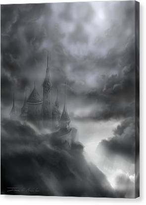 The Skull Castle Canvas Print by James Christopher Hill