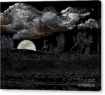 The Sky Is Low Canvas Print by Rhonda Strickland