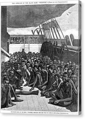 The Slave Deck Of The Ship Wildfire Canvas Print by Everett