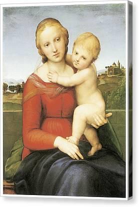 The Small Couper Madonna Canvas Print by Raffaello Sanzio
