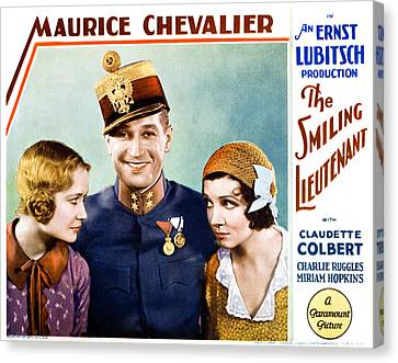 The Smiling Lieutenant, From Left Canvas Print by Everett