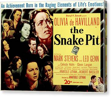 The Snake Pit, Olivia De Havilland Canvas Print by Everett