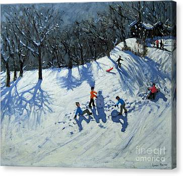 The Snowman  Canvas Print by Andrew Macara