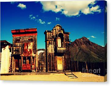 The Sombrero Bank In Old Tuscon Arizona Canvas Print by Susanne Van Hulst