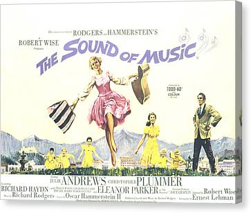 The Sound Of Music, Julie Andrews Canvas Print by Everett