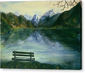 Canvas Print featuring the painting The Sound Of Silence by Itzhak Richter
