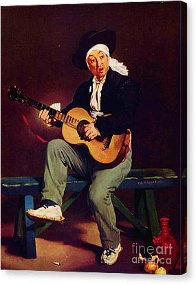 The Spanish Singer Canvas Print by Pg Reproductions