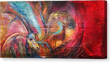 The Spirit Of Ein Gedi Canvas Print by Elena Kotliarker
