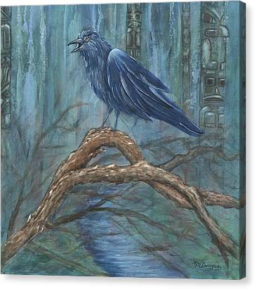 The Spirit Of Trickster Canvas Print by Melodie Douglas