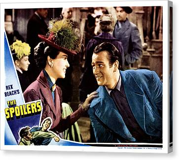 The Spoilers, From Left Margaret Canvas Print by Everett