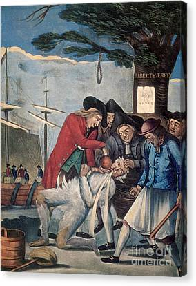 The Stamp Act Protests, 1774 Canvas Print by Photo Researchers