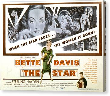The Star, Bette Davis, Sterling Hayden Canvas Print by Everett