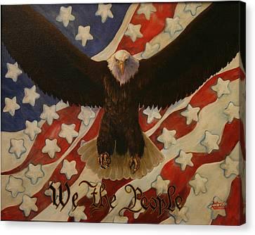 The Stars Of America Canvas Print by Ruth Ann Murdock