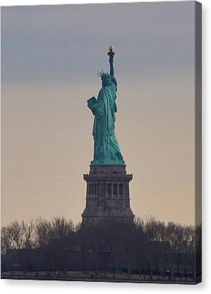 The Statue Of Liberty Canvas Print by Bill Cannon