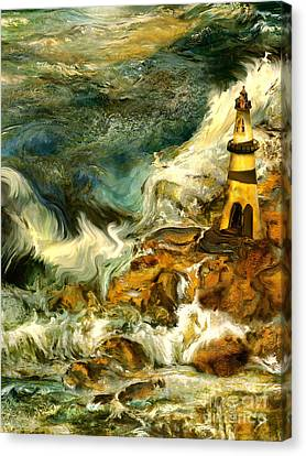 The Steadfast Lighthouse Canvas Print by Anne Weirich