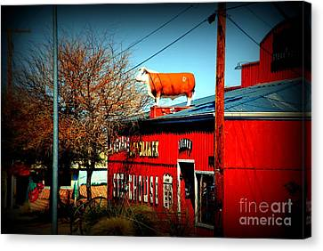 The Steakhouse On Route 66 Canvas Print by Susanne Van Hulst