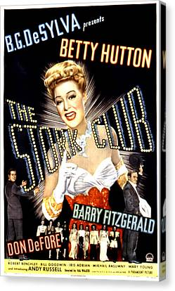 The Stork Club, Don Defore, Betty Canvas Print