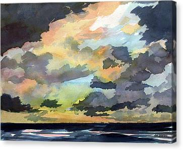 The Storm Breaks Canvas Print by Jon Shepodd
