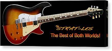 The Strat Les Guitar Canvas Print by Mike McGlothlen