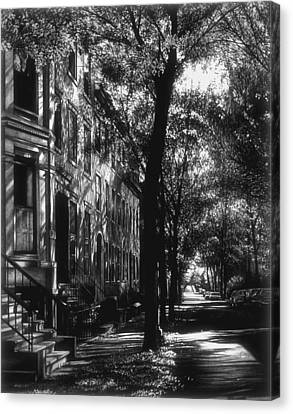 The Street Canvas Print by Jerry Winick