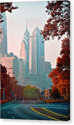 The Streets Of Philadelphia Canvas Print by Bill Cannon