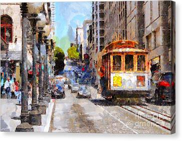 The Streets Of San Francisco . 7d7263 Canvas Print by Wingsdomain Art and Photography