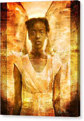 Canvas Print featuring the photograph The Strength Of Angels by Nada Meeks