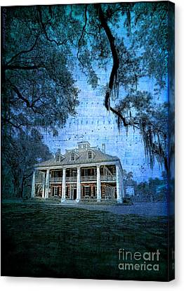 The Sugar Palace - River Road Blues Canvas Print by Lianne Schneider