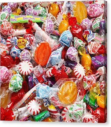 The Sugar Rush Square Canvas Print by Andee Design