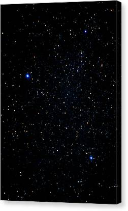 The Summer Triangle: Cygnus, Lyra And Aquila Canvas Print by John Sanford