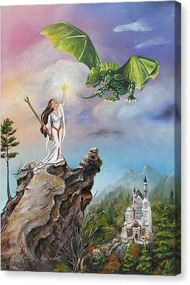 Canvas Print featuring the painting The Summoning by Lori Brackett
