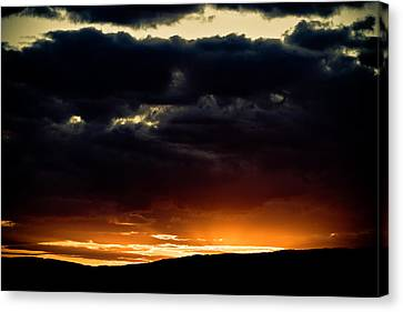 The Sun Beats Below Canvas Print by Justin Albrecht