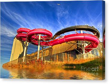Monorail Canvas Print - The Sun Centre by Adrian Evans