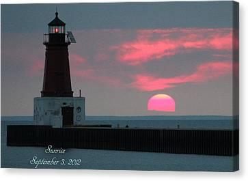 The Sun Is Rising  Canvas Print by Sheila Werth