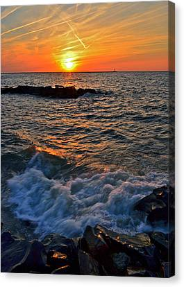 The Sun Is Wearing Shades Canvas Print by Frozen in Time Fine Art Photography