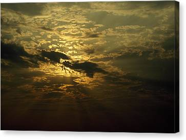 The Sun Obscured By A Late Afternoon Canvas Print by Jason Edwards