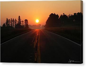 The Sun Road Canvas Print