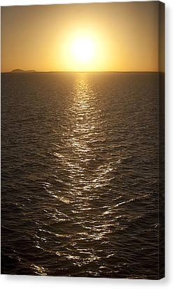 The Sun Sets Over Lake Nasser Canvas Print by Taylor S. Kennedy
