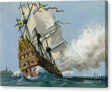 The Swedish Warship Vasa Canvas Print by Ralph Bruce