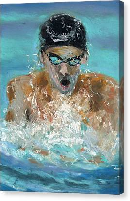 The Swimmer Canvas Print by Paul Mitchell