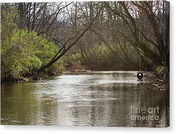 Canvas Print featuring the photograph The Swimming Hole by Michael Waters