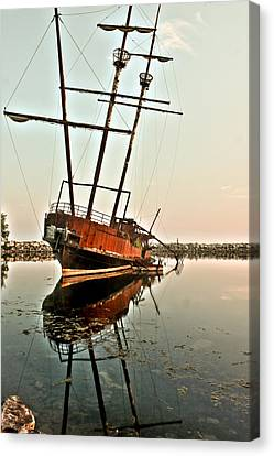 Canvas Print featuring the photograph The Tall Shipwreck by Nick Mares