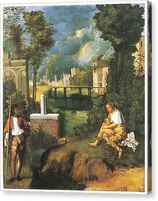 The Tempest Canvas Print by Giorgione