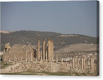 The Temple Of Artemis In The Ruins Canvas Print by Taylor S. Kennedy